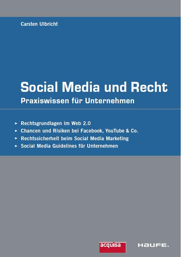 Social Media und Recht Buch